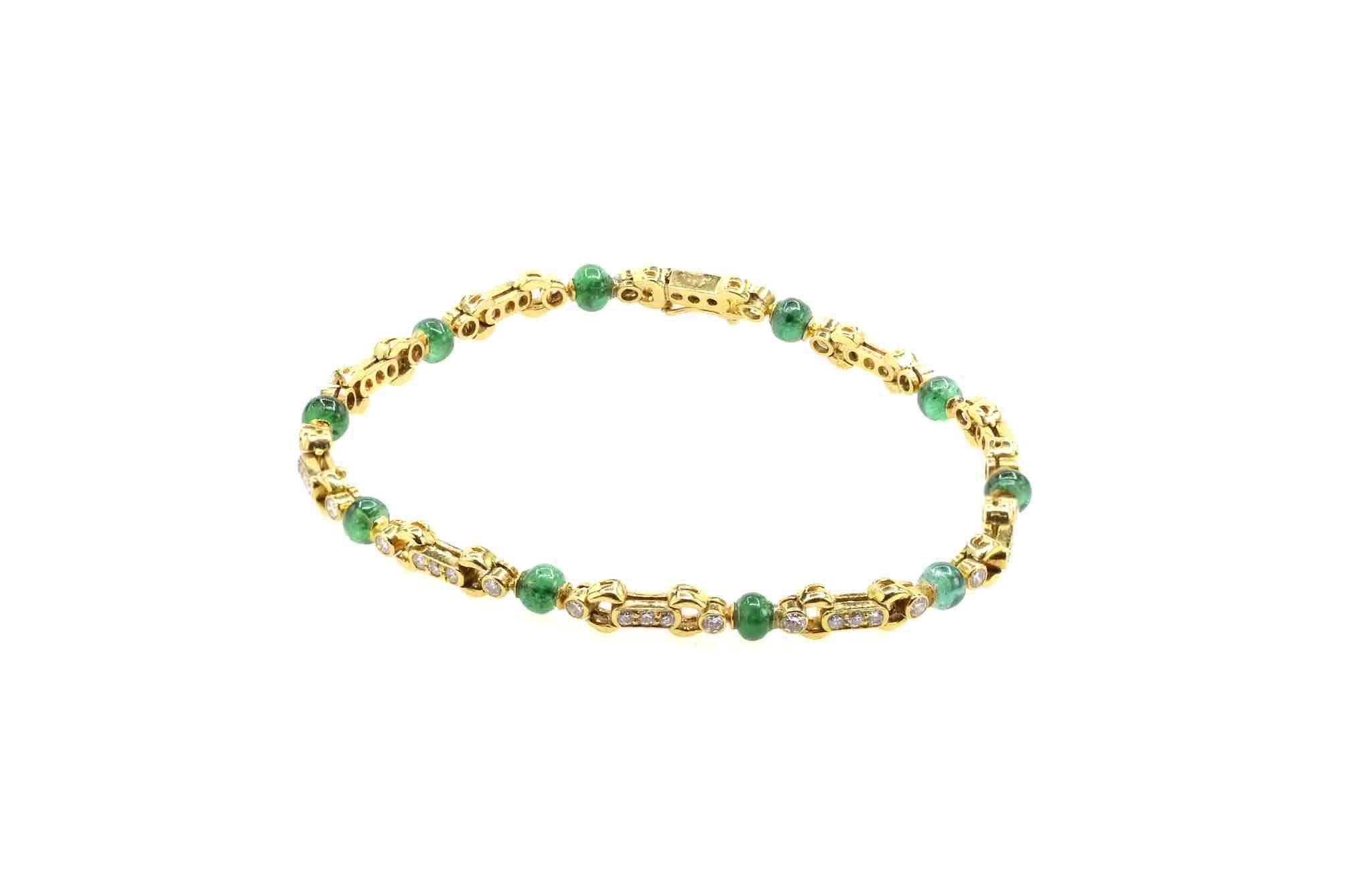 bracelet ancien émeraude