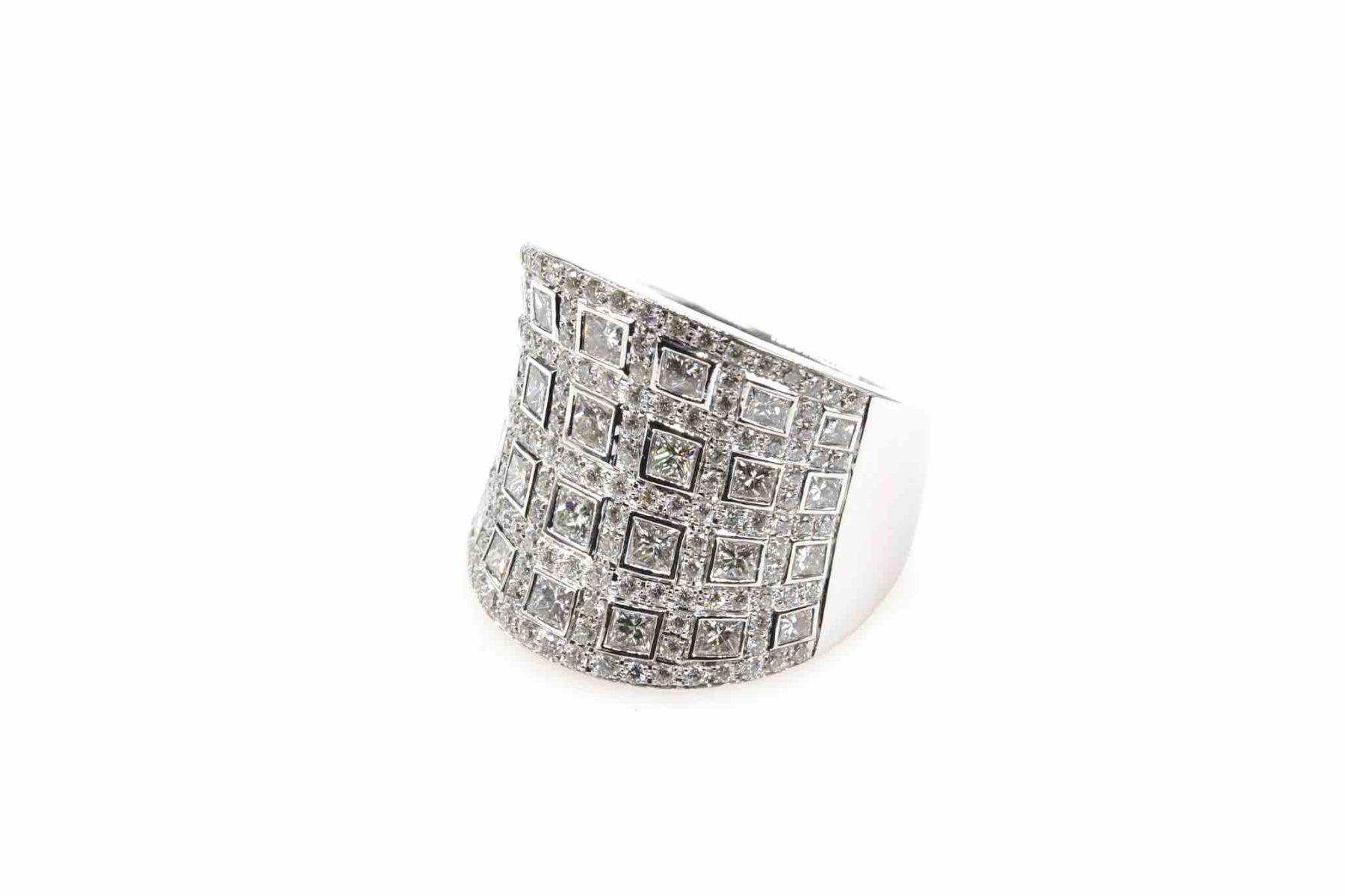bague diamants en or 18k
