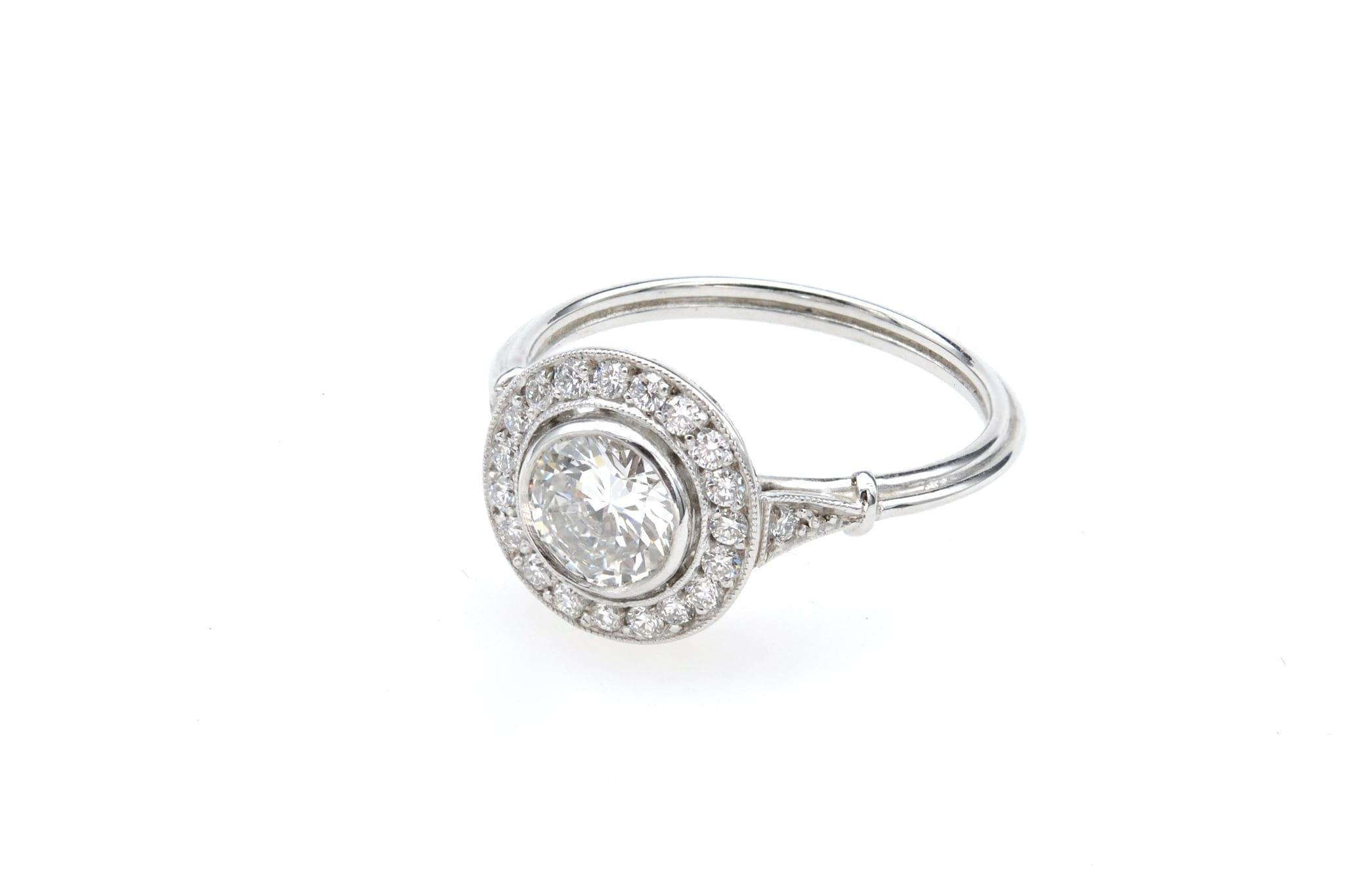 bague vintage ronde diamants