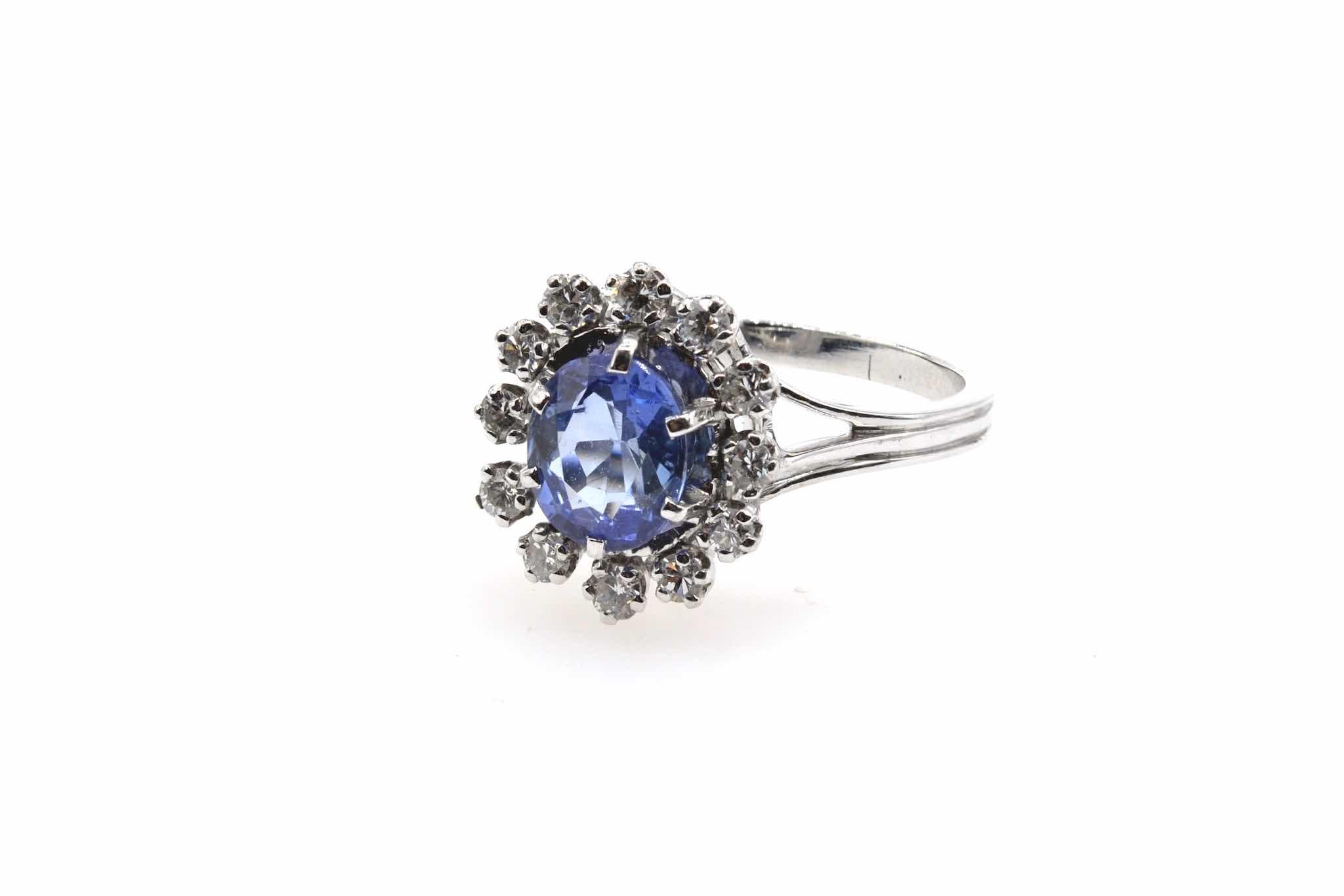 bague 1960 saphir et diamants