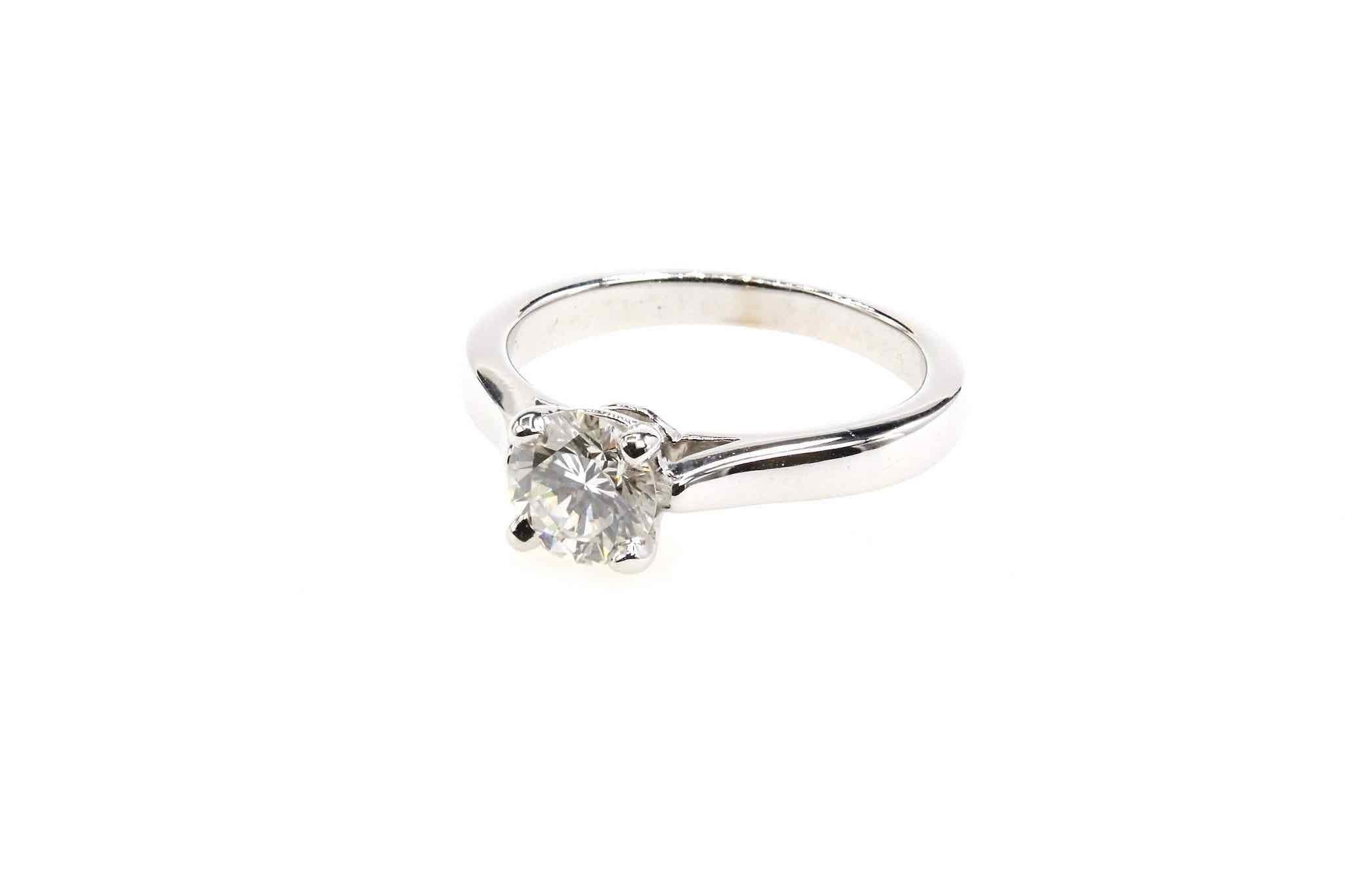 Bague vintage solitaire diamant