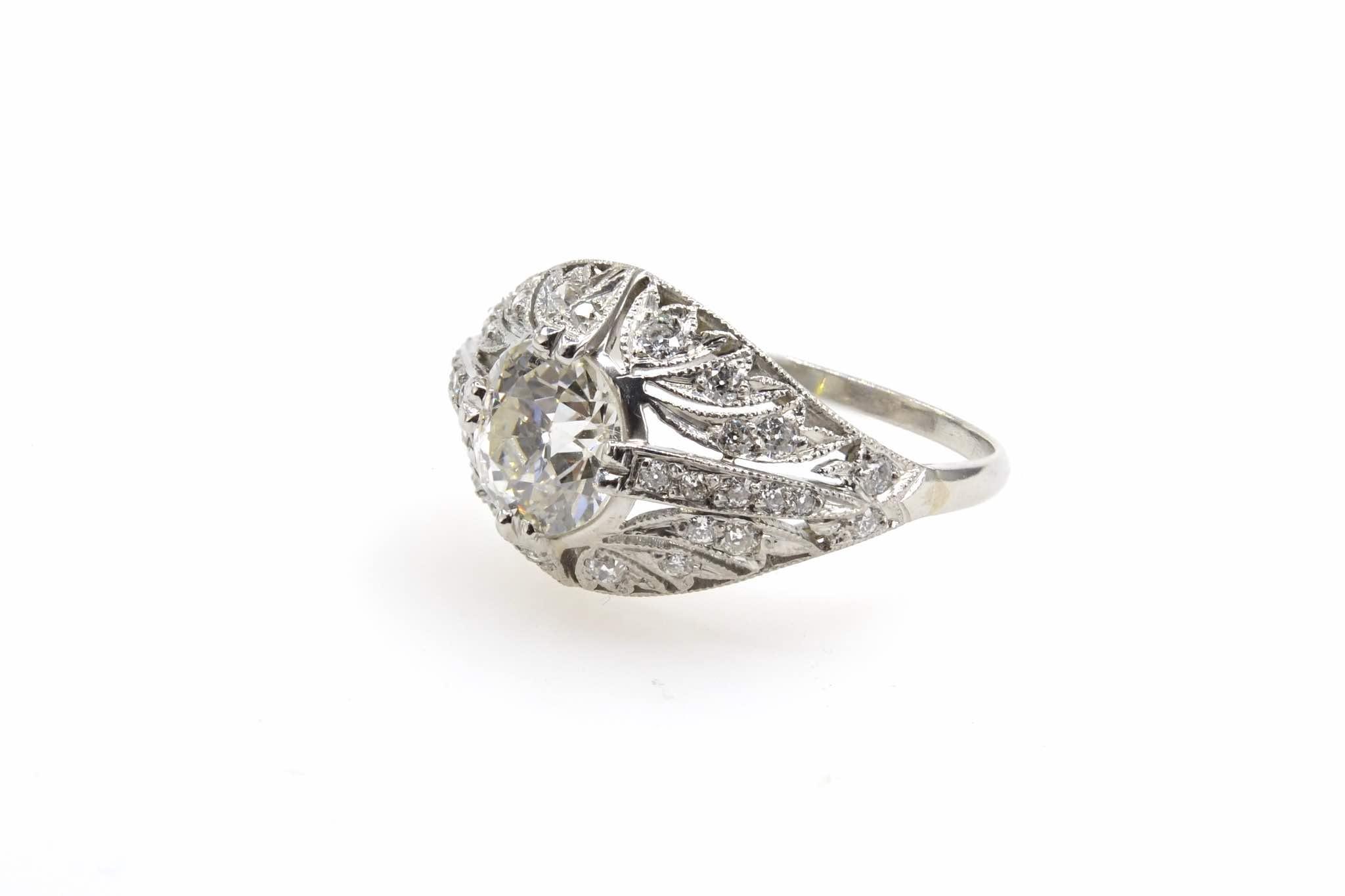 bague dôme Art Déco diamants