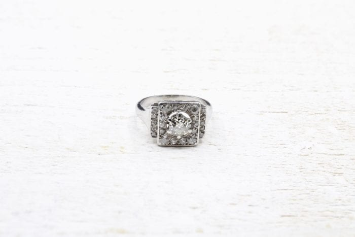 Bague diamants vintage paris