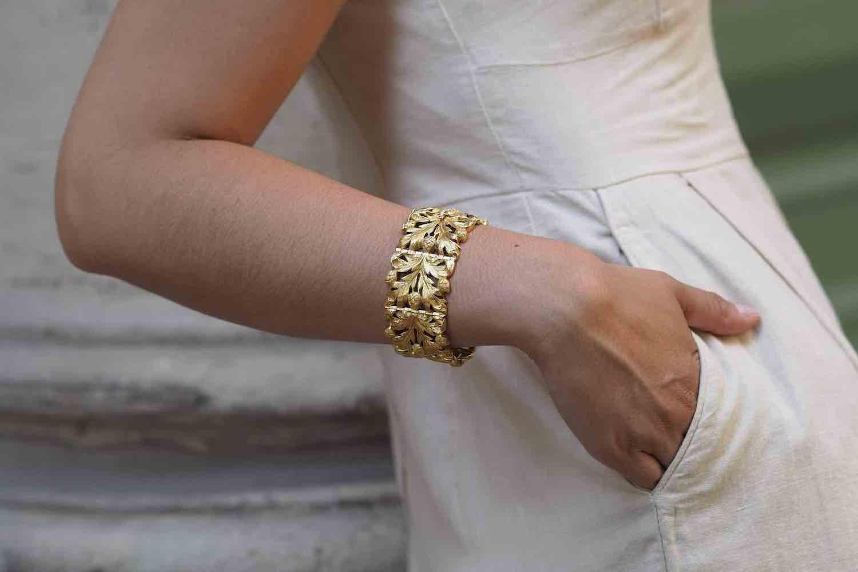 bracelet ancien or massif 18k