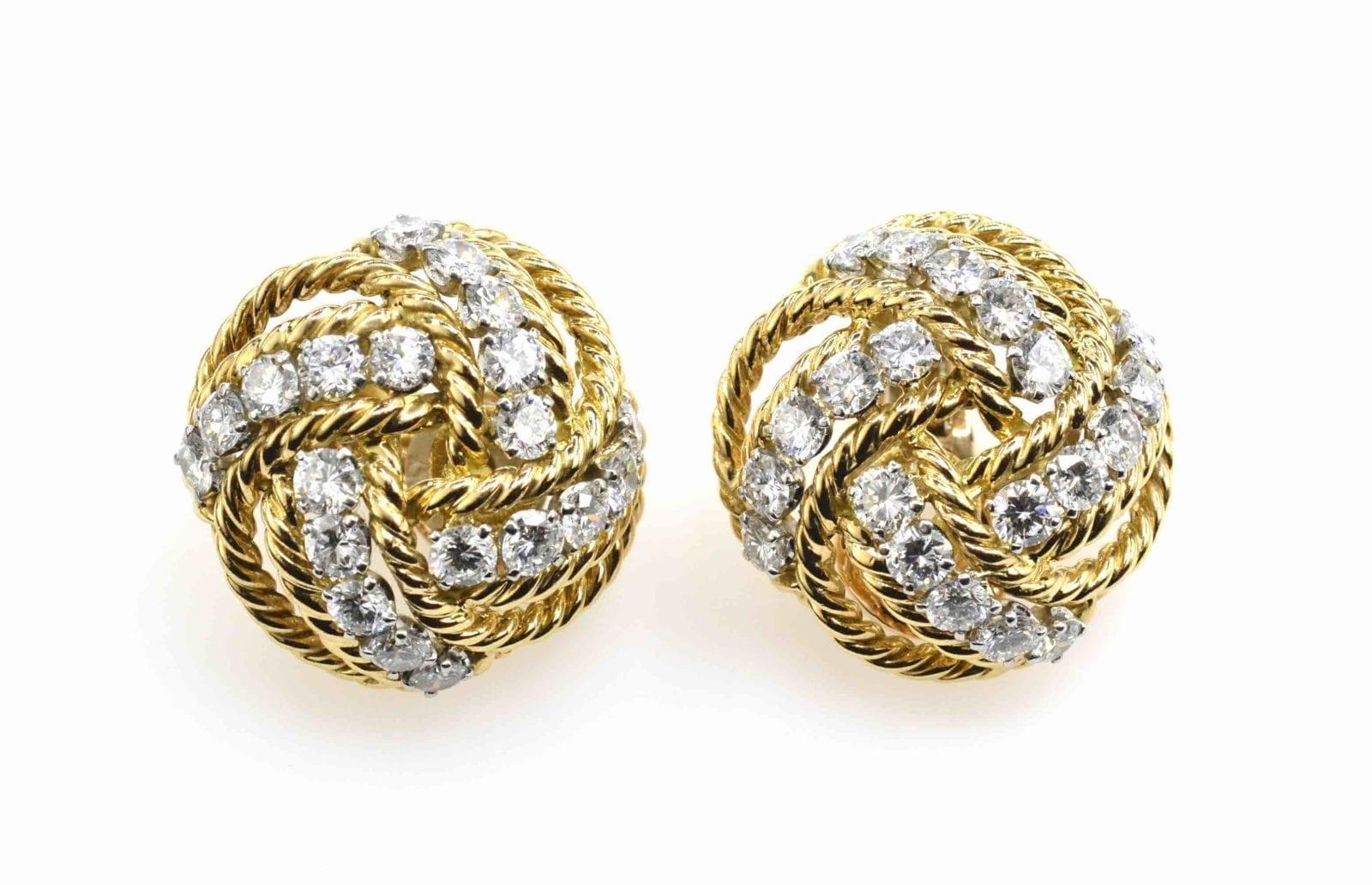 Boucles d'oreilles diamants Boucheron 1950