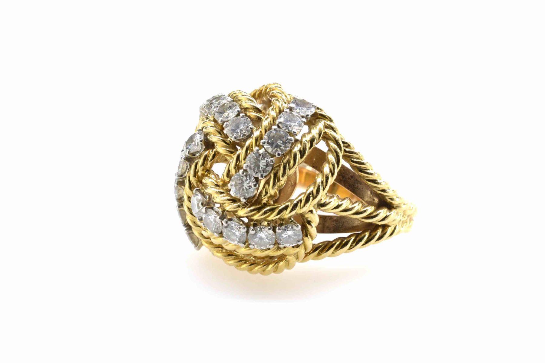 Bague Boucheron diamants 1950