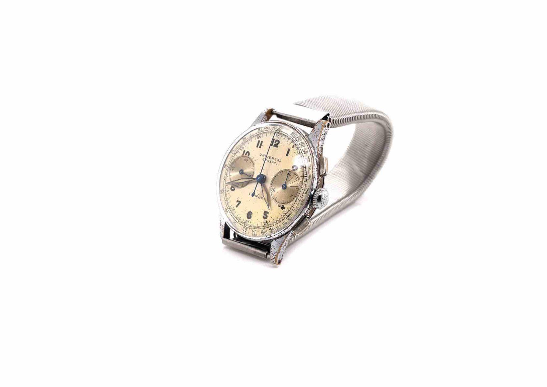 Montre d'occasion Universal Genève chrono 1950