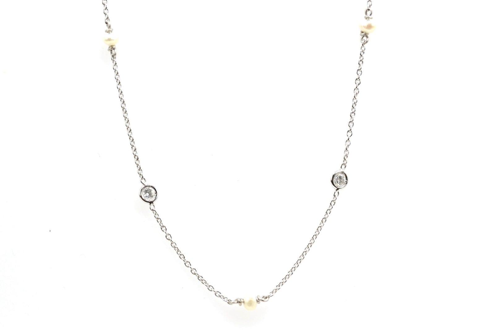 collier vintage perle et diamants