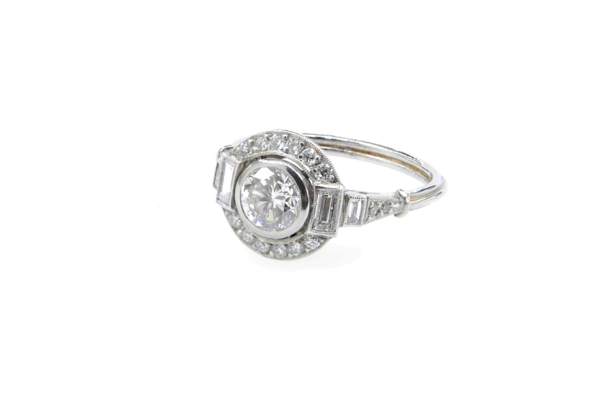 bague ancienne diamants de fiançailles