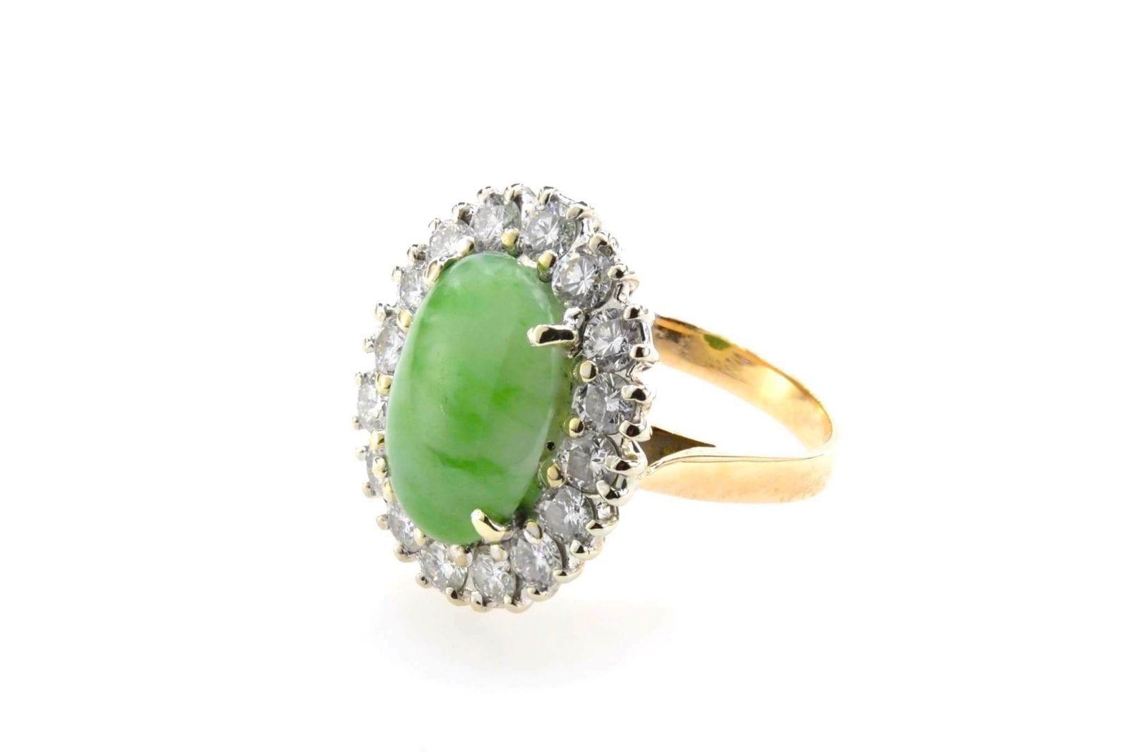 bague ancienne jade diamants-