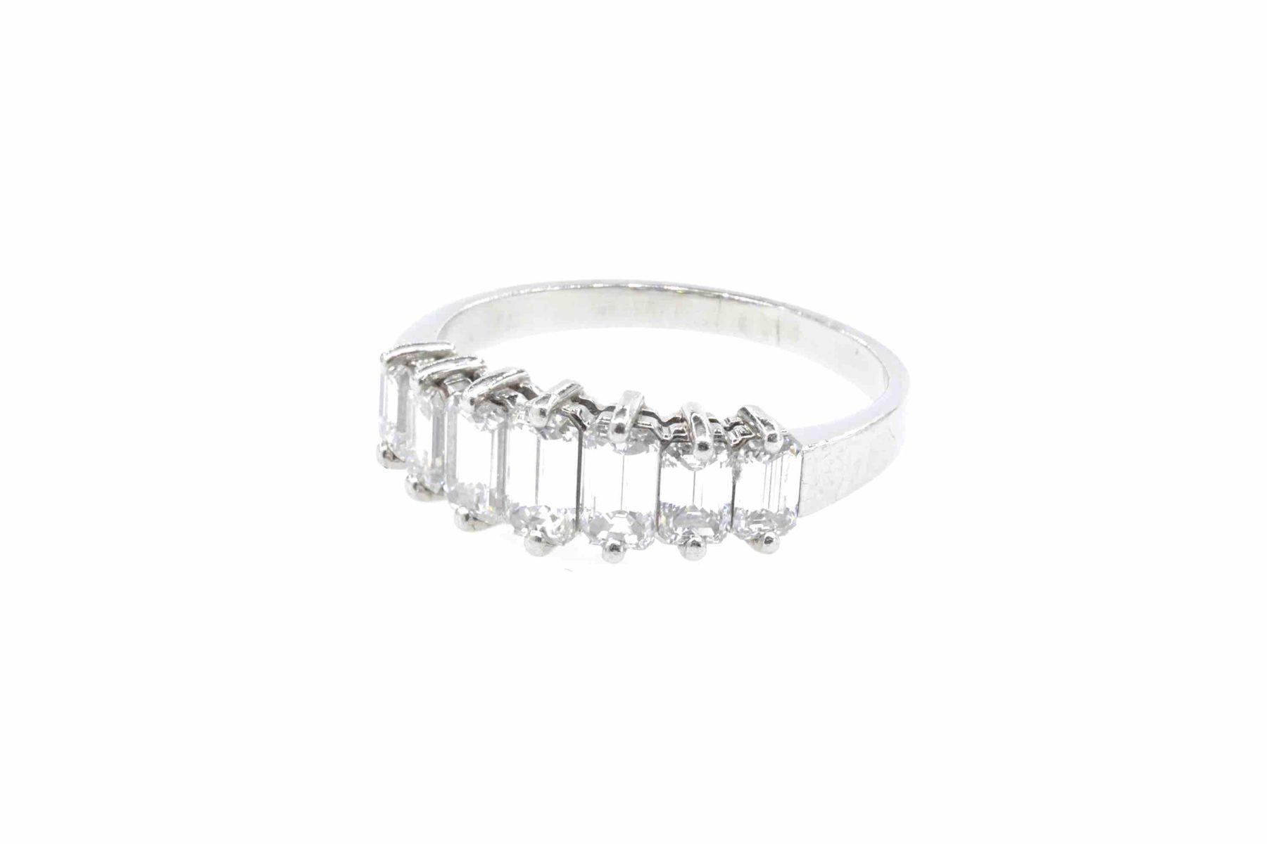 bague diamants baguette