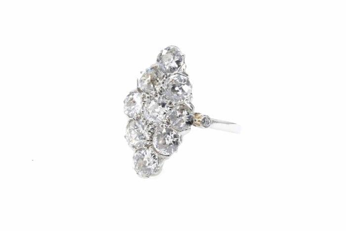 bague marquise occasion en or et diamants