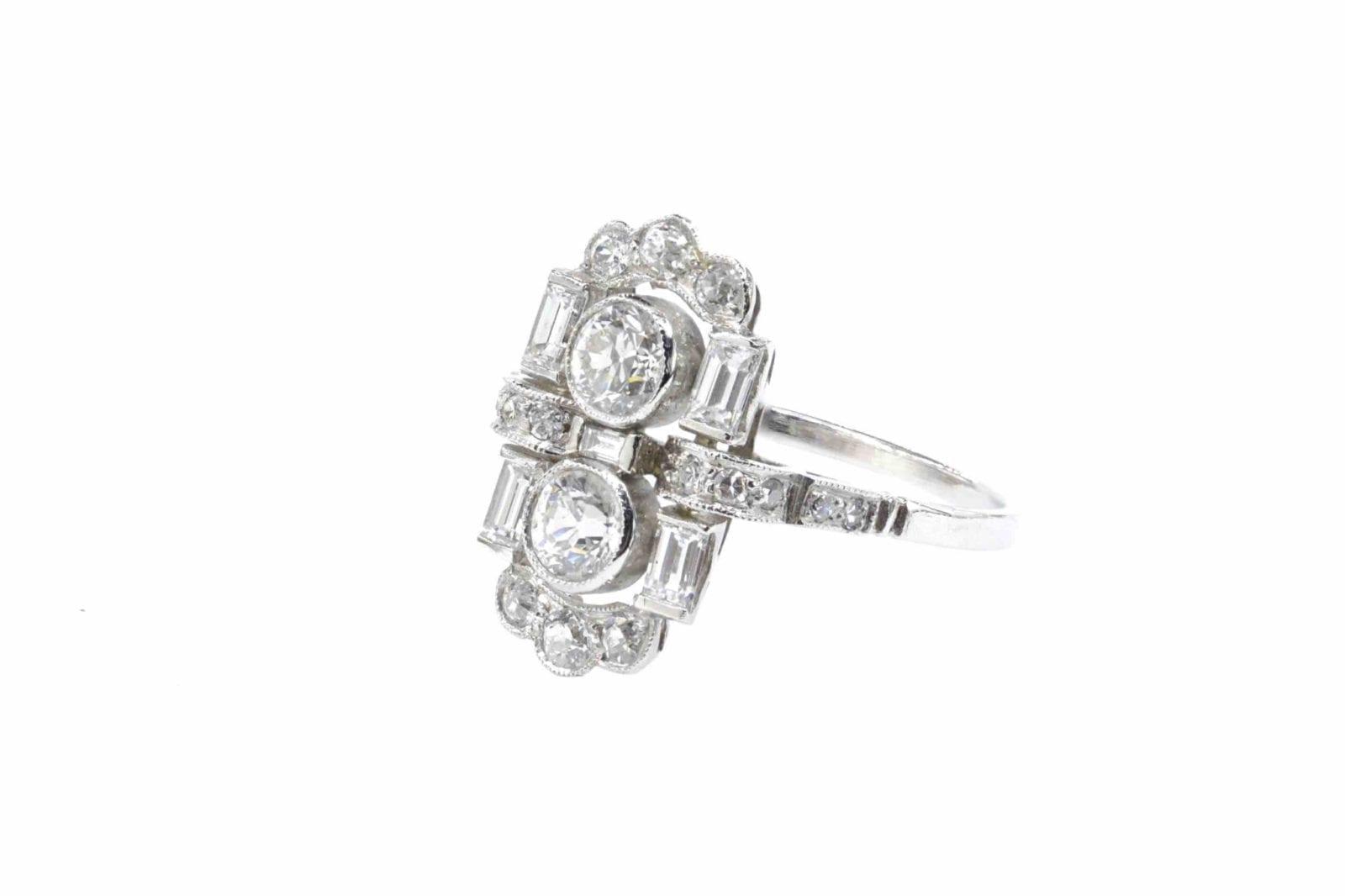 bague occasion platine diamants
