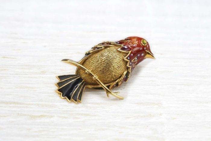 Broche oiseau années 50