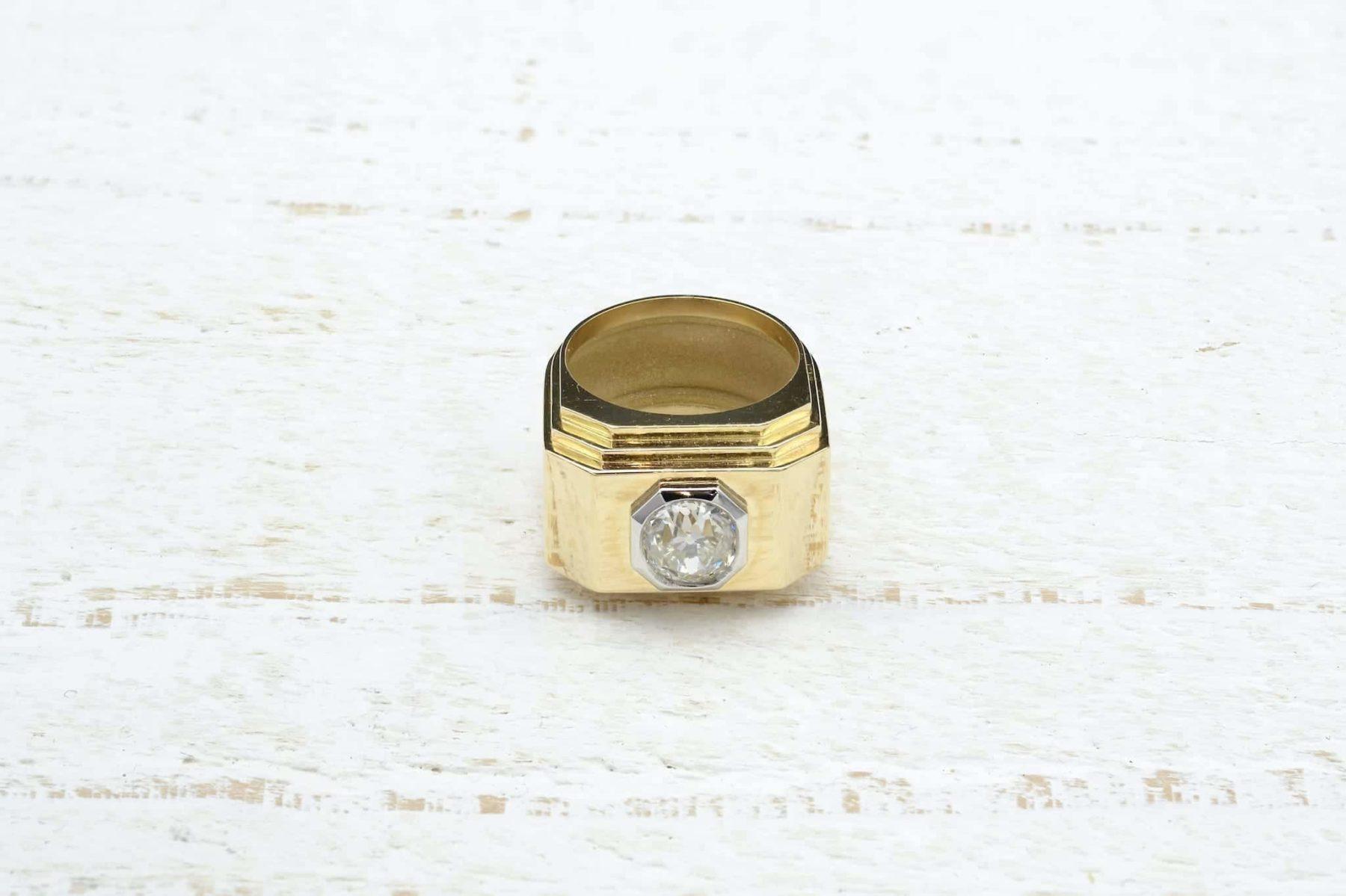 18k gold platinum ring