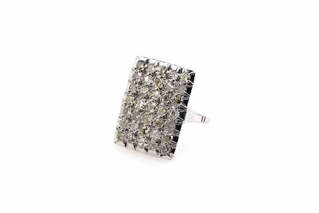 bague pavage diamants vintage
