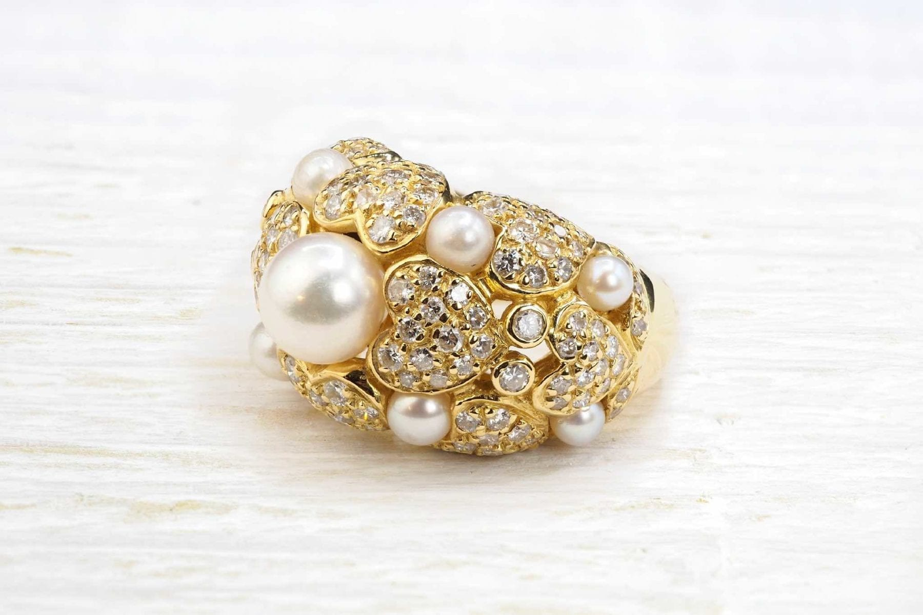 bagues style chanel diamants perles