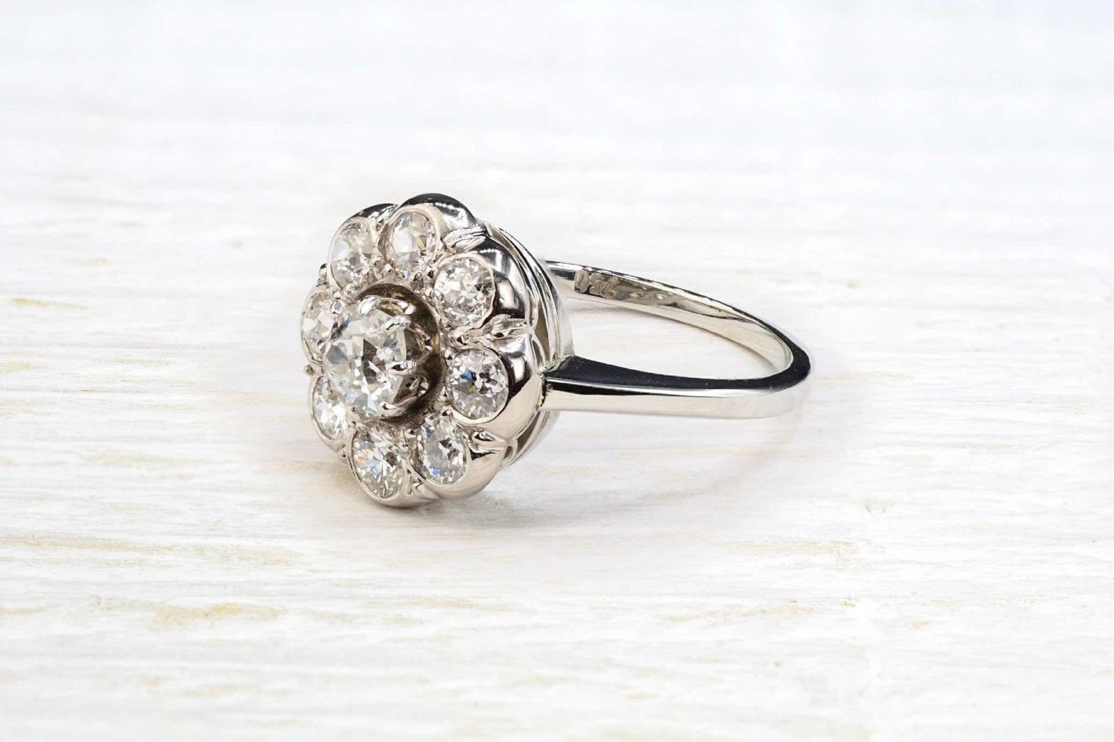 bague diamants marguerite