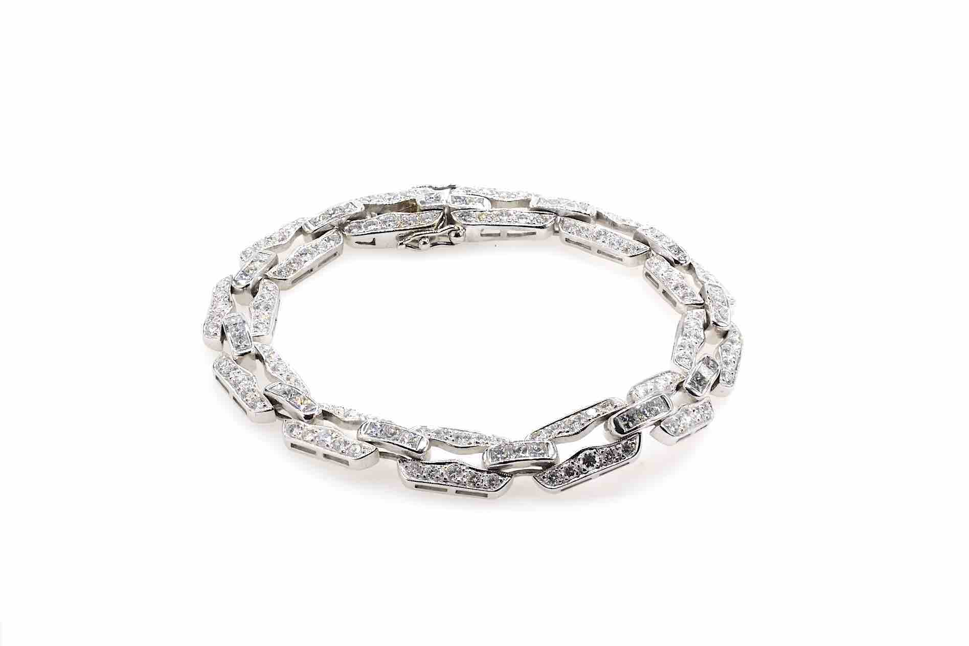 Bracelet diamants en or blanc 18k