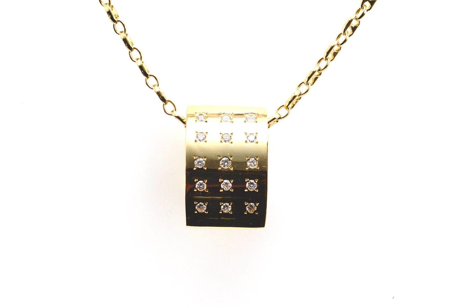 pendentif diamants en or 18k