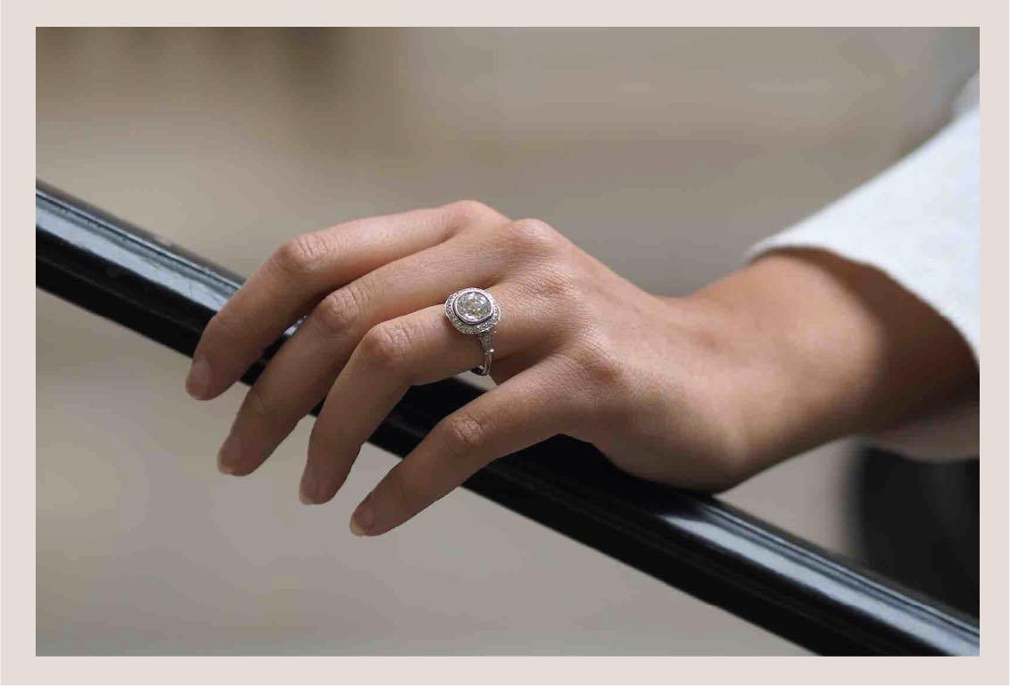 bague de fiançailles en or blanc 18k