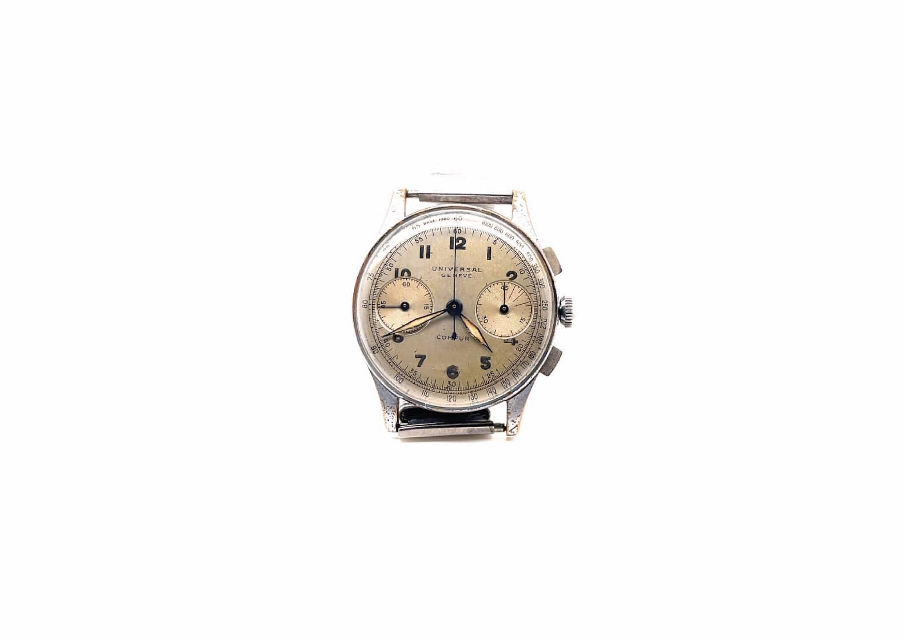 Montre vintage Universal Genève chrono 1950