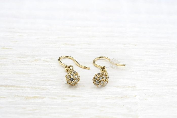 Boucles d'oreilles diamants Tiffany en or 18k