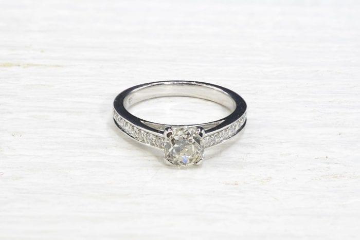 Bague solitaire diamant de 1,02 cts