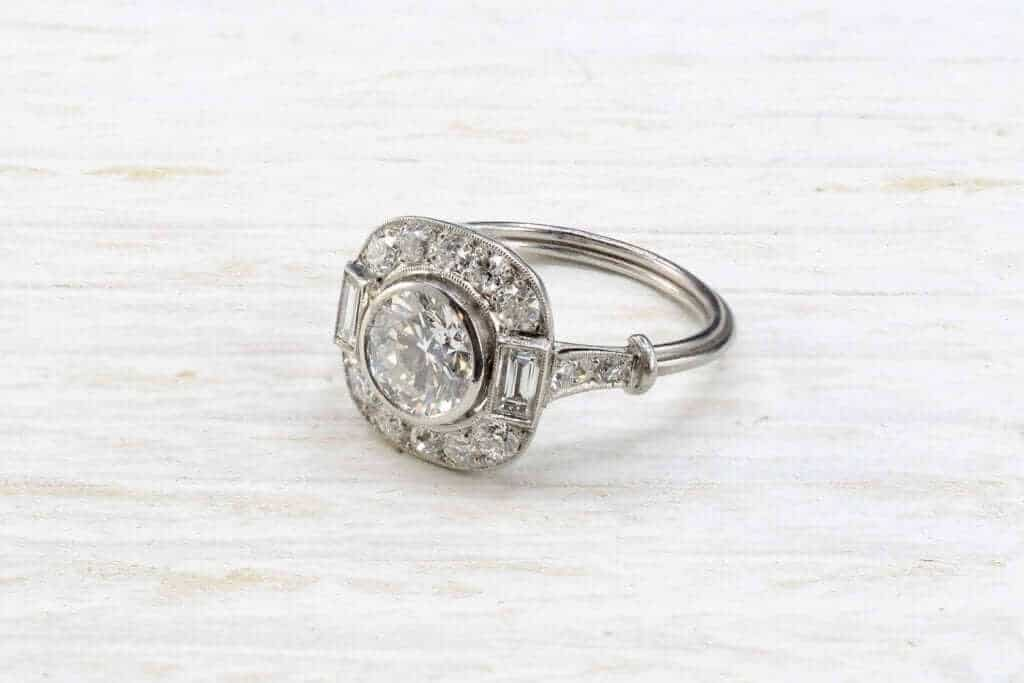 bague art déco diamants vintage