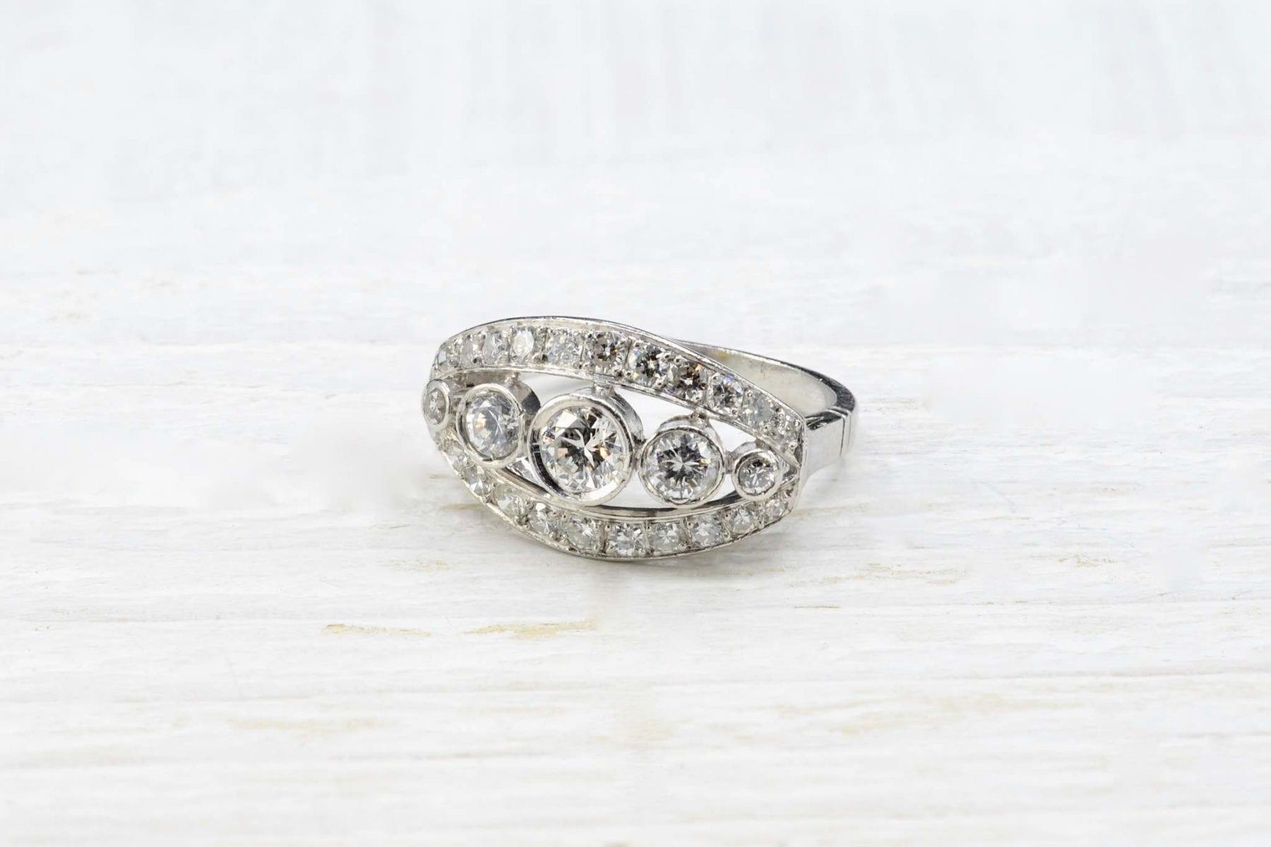 bague diamants en o blanc 18k