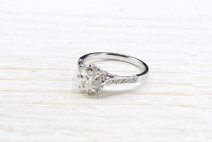 solitaire diamant ancien