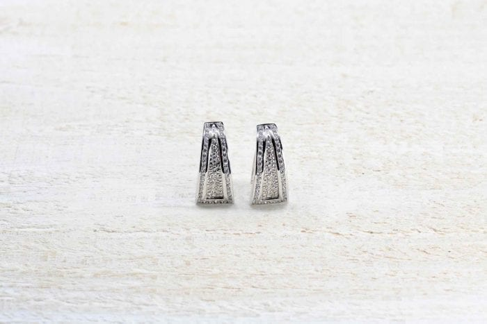 Boucle oreilles diamants