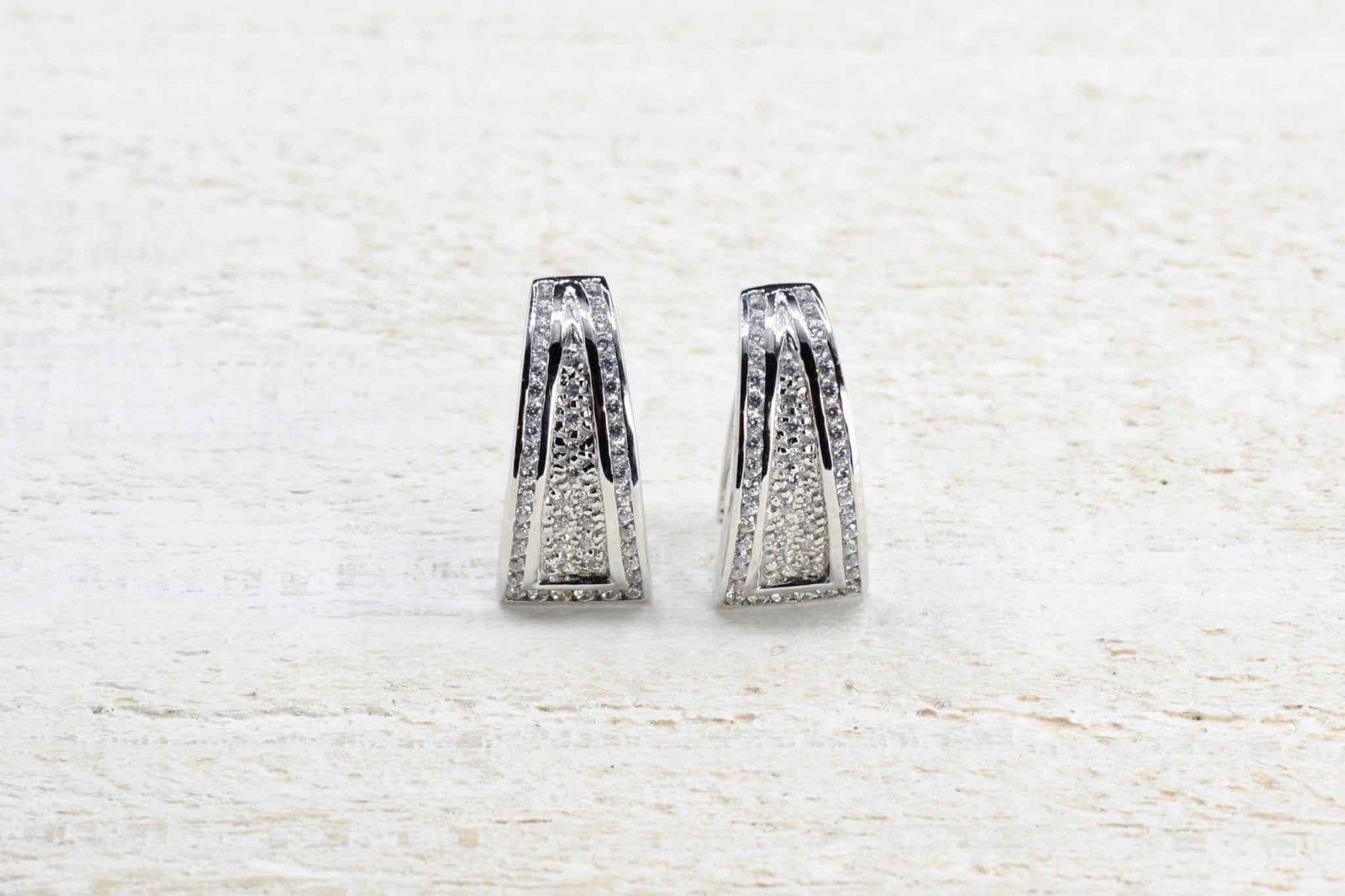 Boucles oreilles diamants