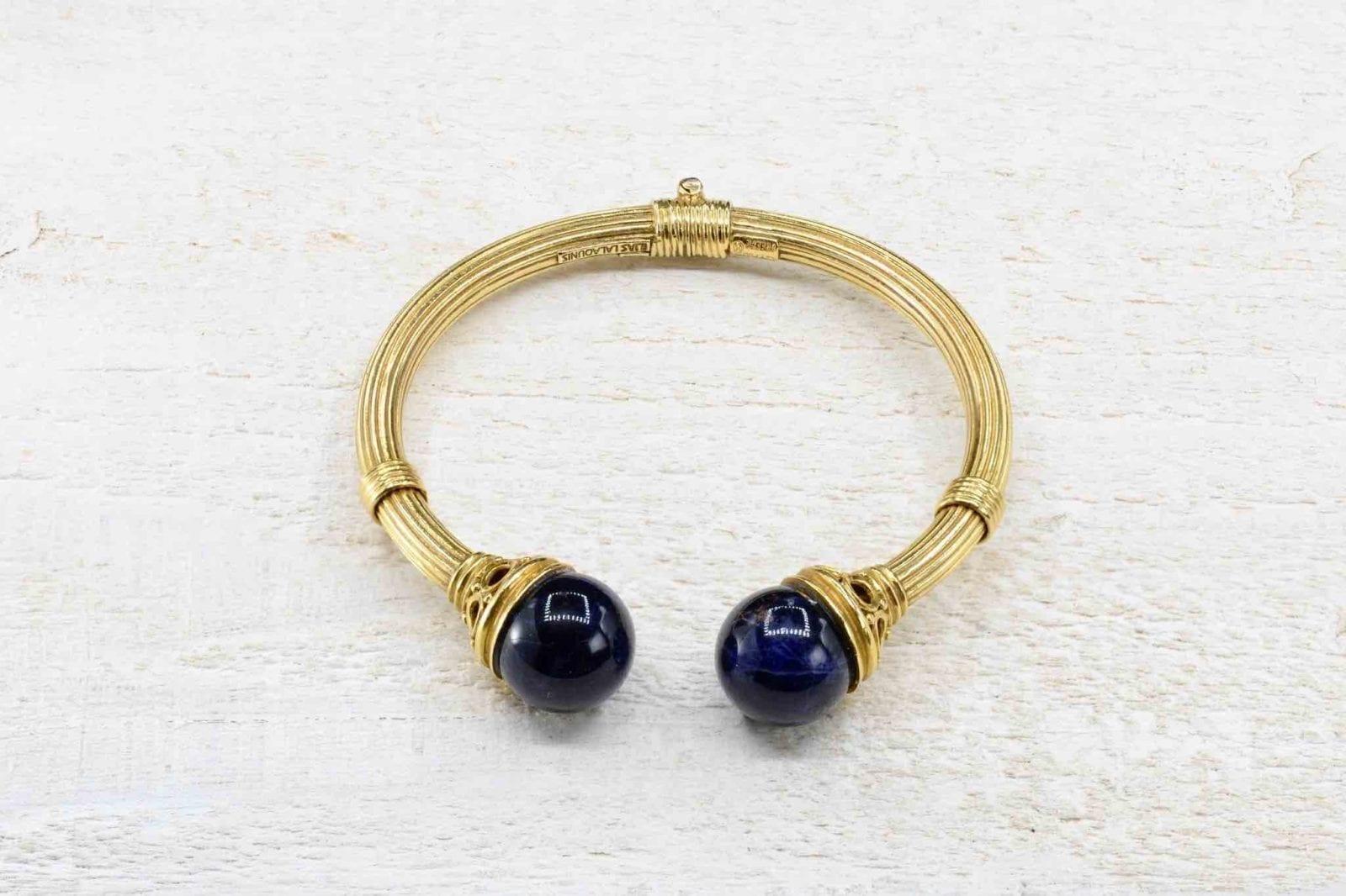 bracelet Lalaounis sodalite or 18k