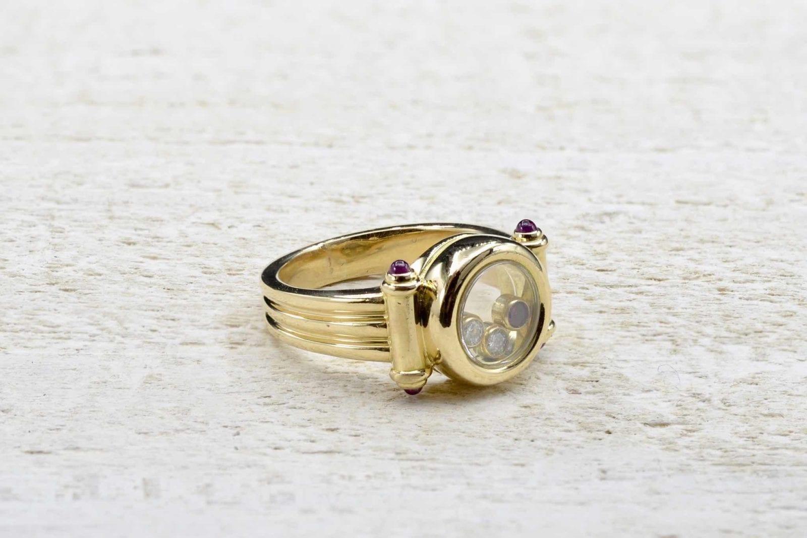 bague or chopard rubis diamants