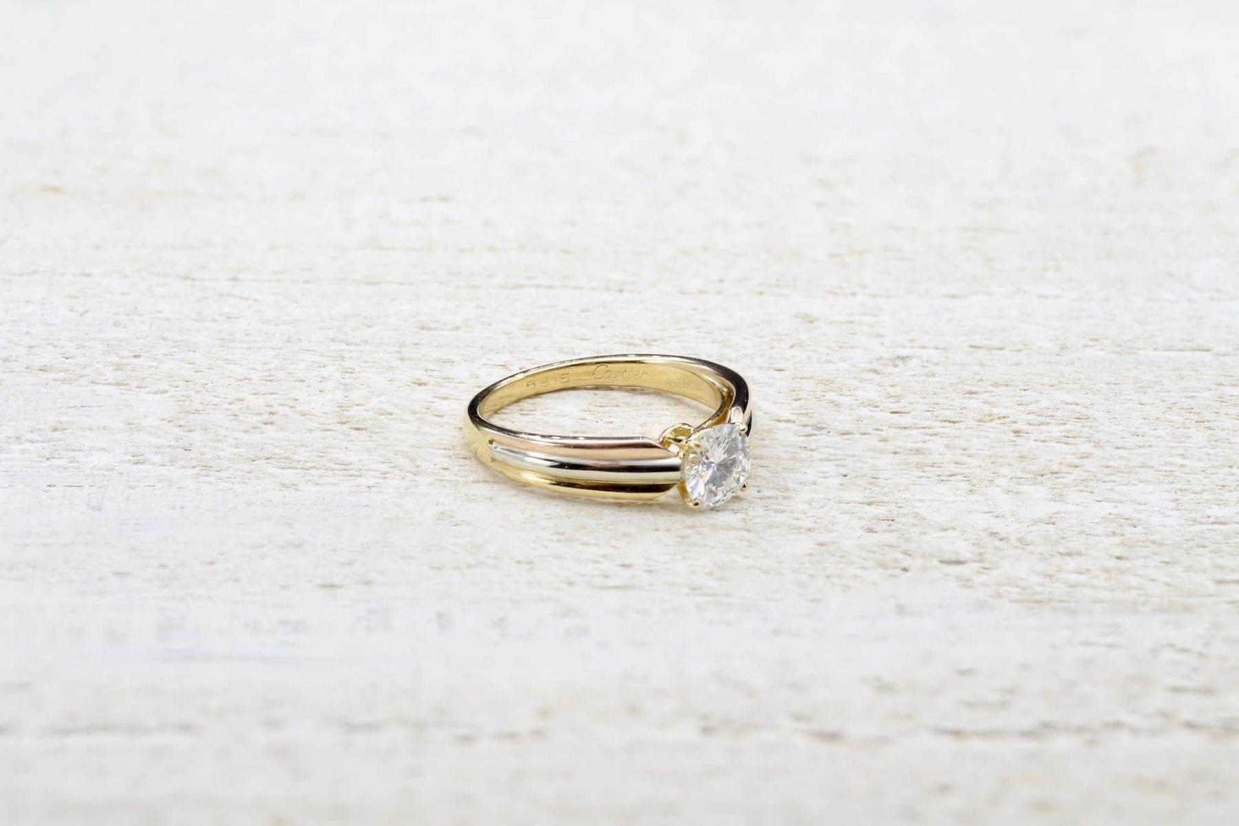 Solitaire diamant Cartier fiançailles