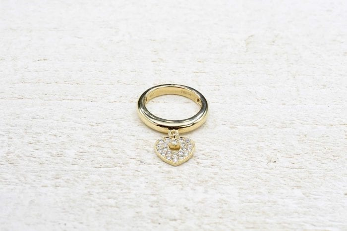 Bague Poiray coeur diamants en or jaune 18k