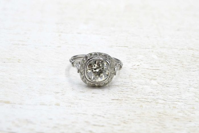 Bague vintage diamant paris