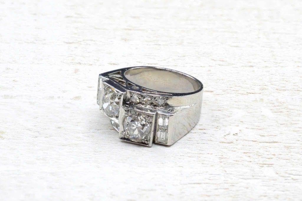 bague 1950 diamants en platine