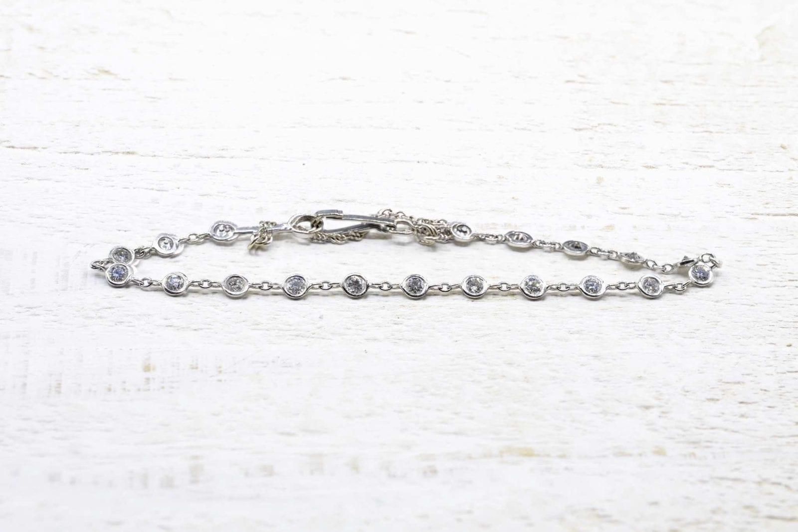 Bracelet diamants en or blanc 18k