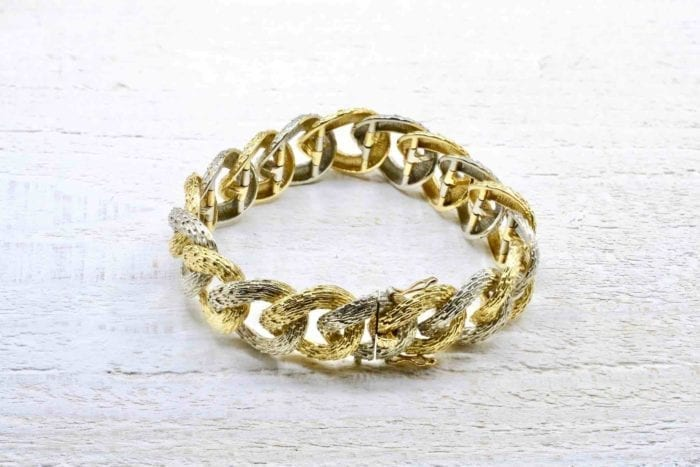 Bracelet 1970 en or jaune et blanc 18k