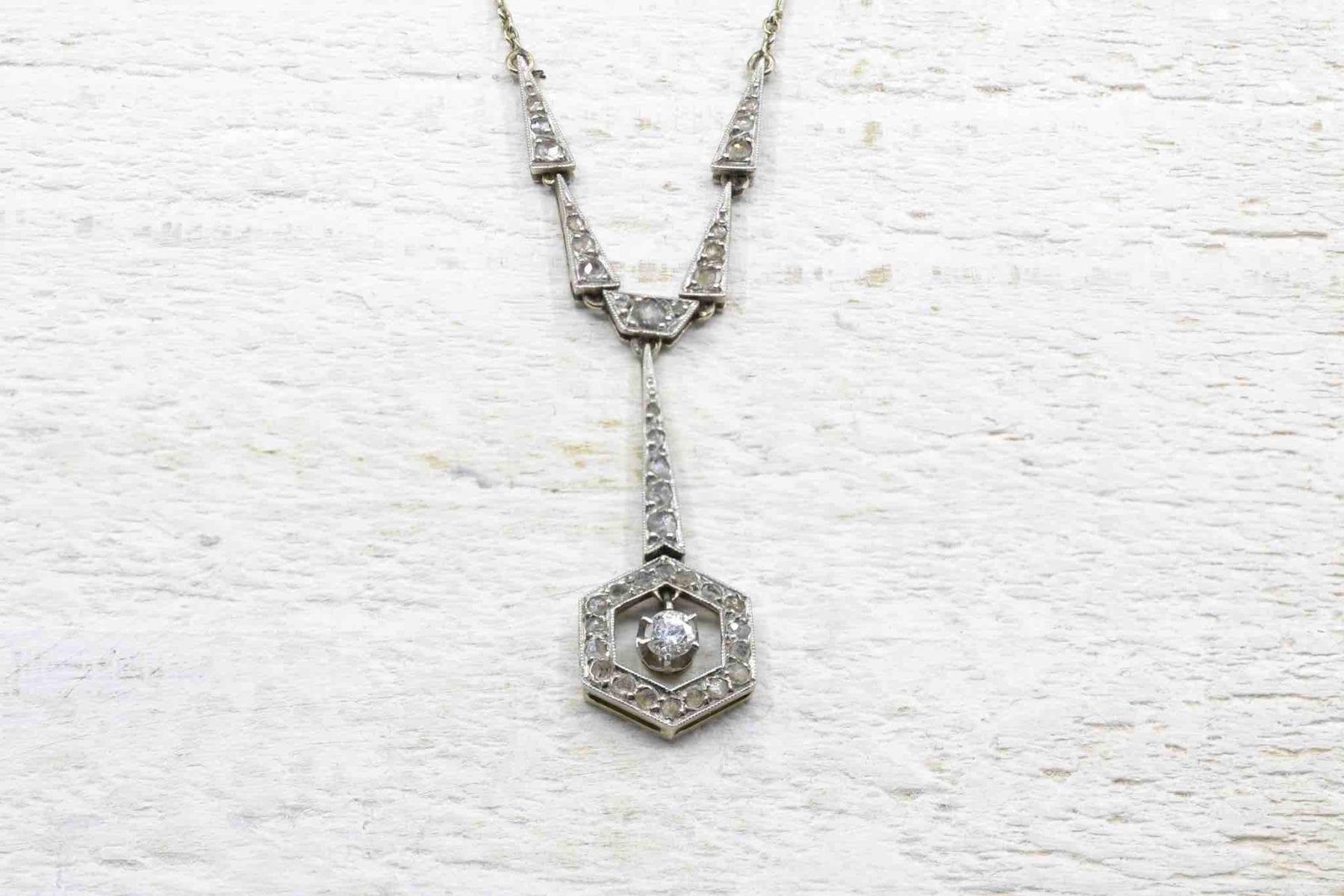 Pendentif diamants Art Déco