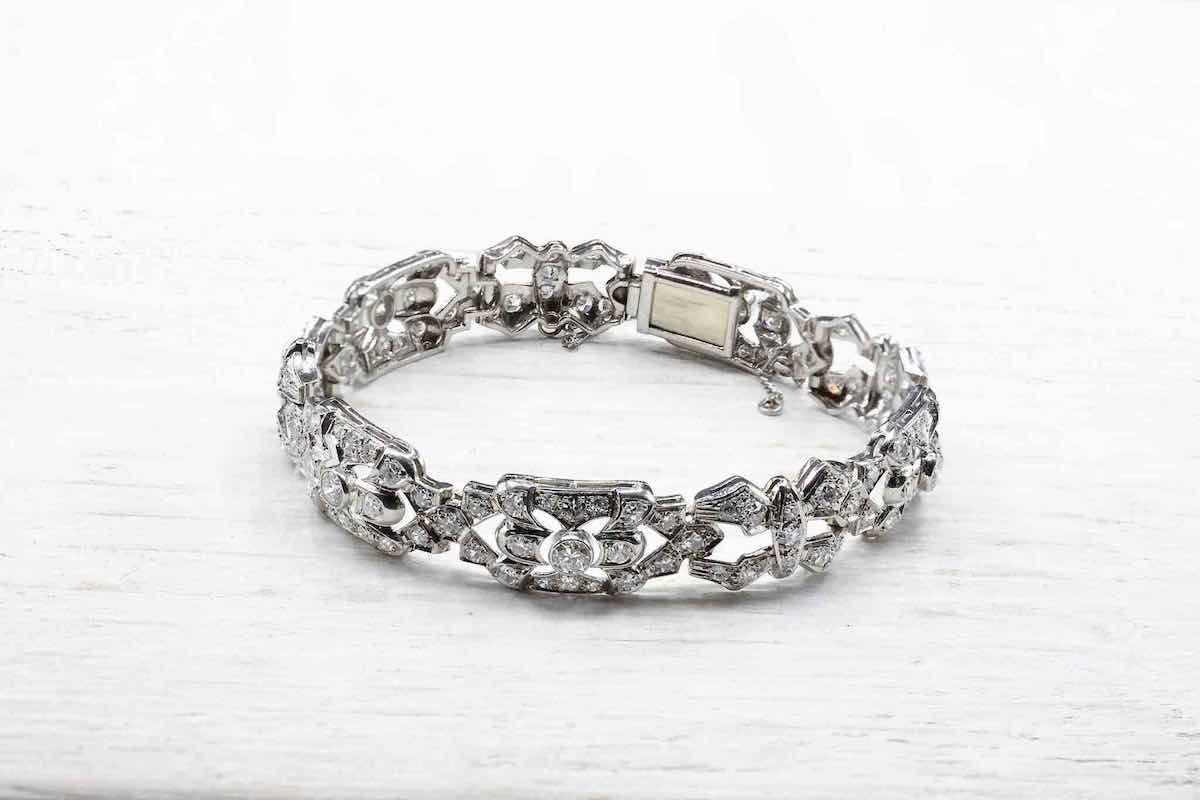 bracelet style art déco diamants