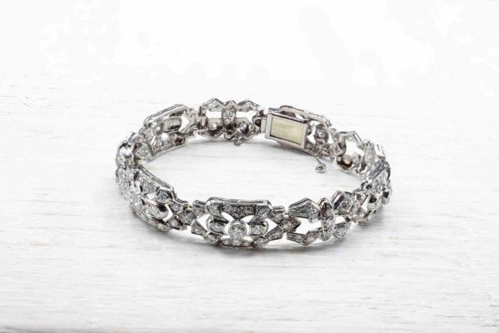 Bracelet or blanc 18k