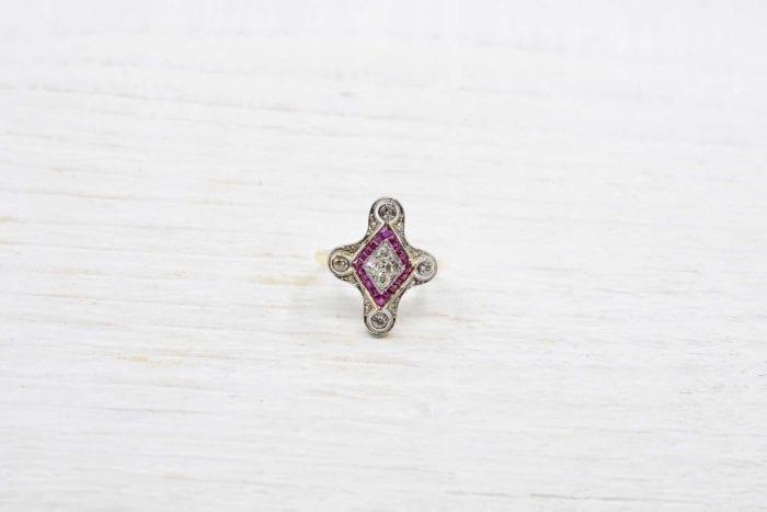 bagues diamants rubis