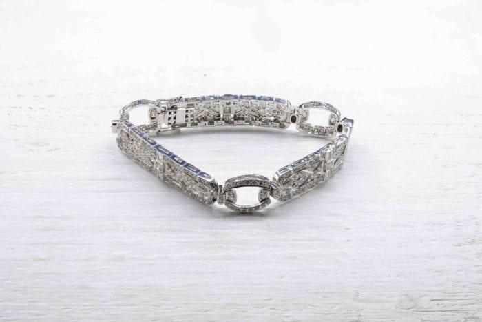 bracelet diamants en or
