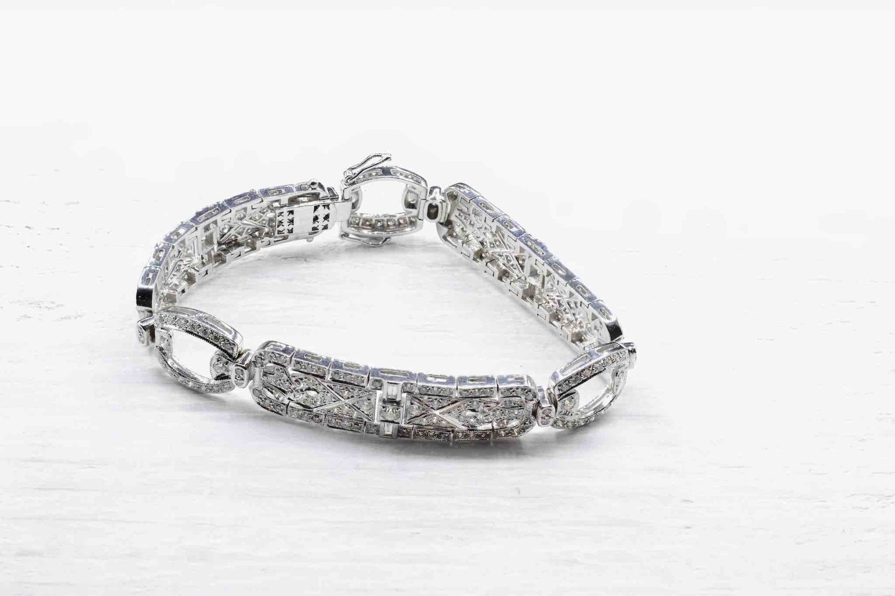Bracelet en or blanc 18k diamants