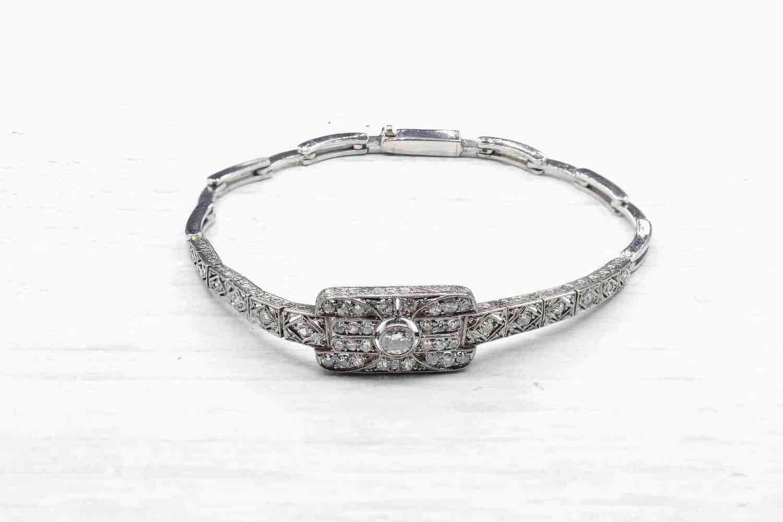 bracelet tour diamants vintage