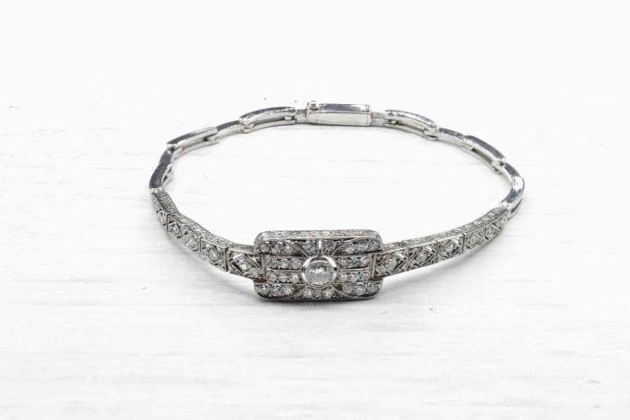 Bracelet ancien platine