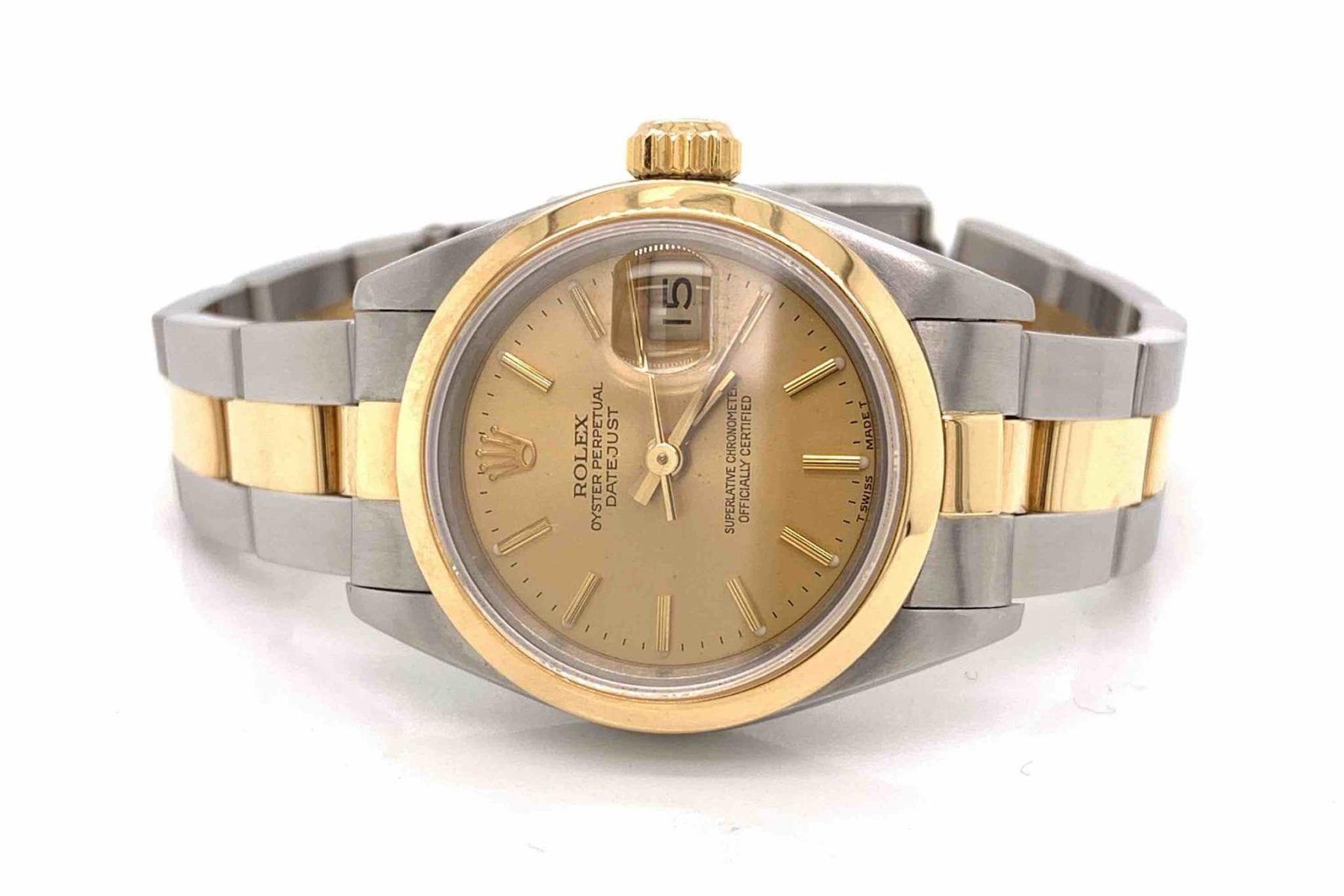 montre Rolex Oyster pour femme en or et acier